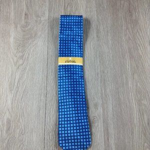 Stafford Teal Square Illusion  Pattern Tie